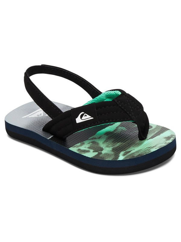 0 Boy's 2-7 Molokai Layback Sandals Black AQTL100004 Quiksilver