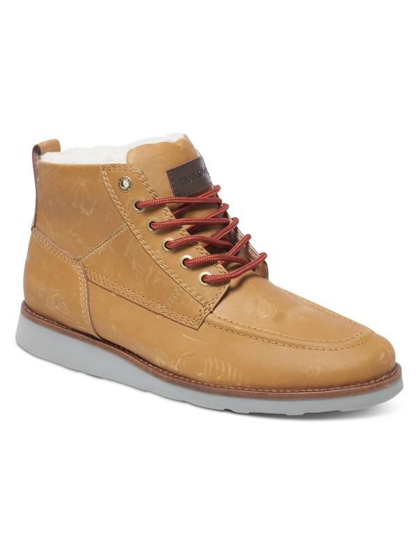 0 Sheffield - Boots en Cuir Beige AQYB700018 Quiksilver