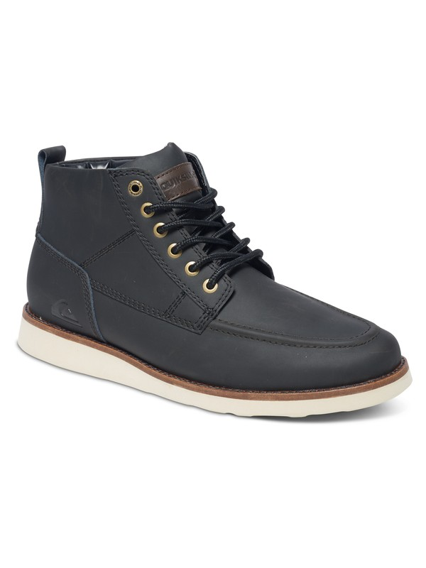 0 Sheffield - Lace-Up Boots Black AQYB700018 Quiksilver