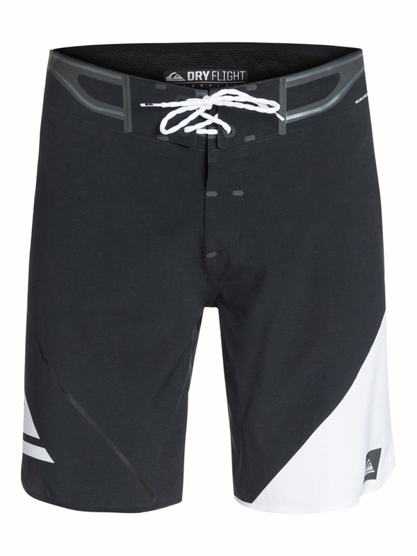 "0 AG47 New Wave Bonded 19"" Boardshorts Black AQYBS03127 Quiksilver"