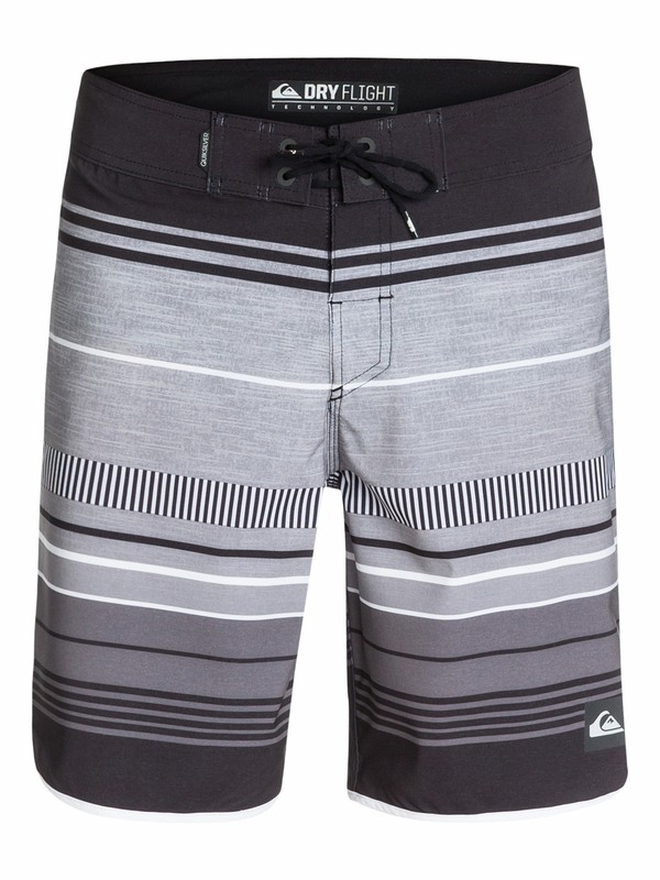 "0 AG47 Pacific Stripe 19"" Boardshorts Black AQYBS03135 Quiksilver"