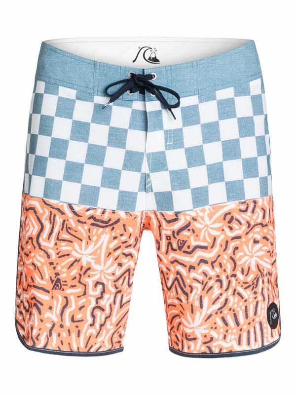 "0 Quad Rock Scallop 18"" Boardshorts  AQYBS03153 Quiksilver"
