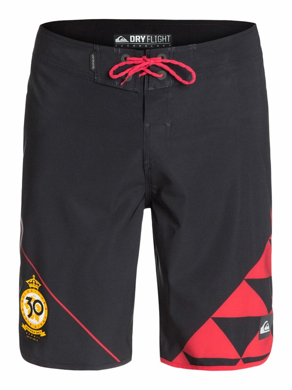 "0 AG47 New Wave Eddie 20"" Boardshorts Black AQYBS03204 Quiksilver"