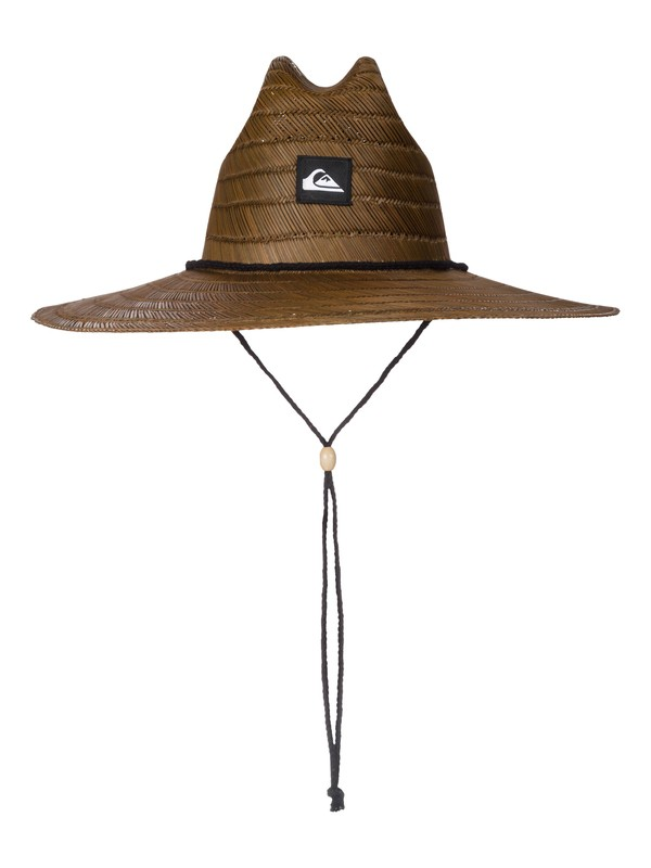 0 Pierside Straw Lifeguard Hat Brown AQYHA00145 Quiksilver