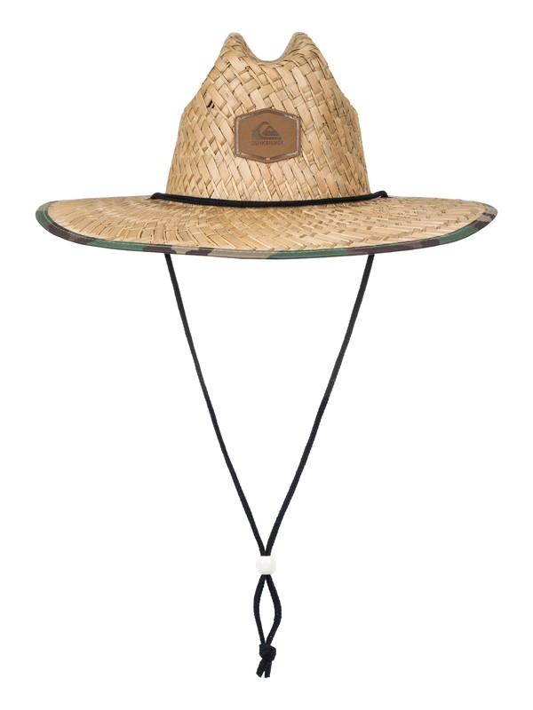 0 Outsider Straw Lifeguard Hat Green AQYHA03218 Quiksilver