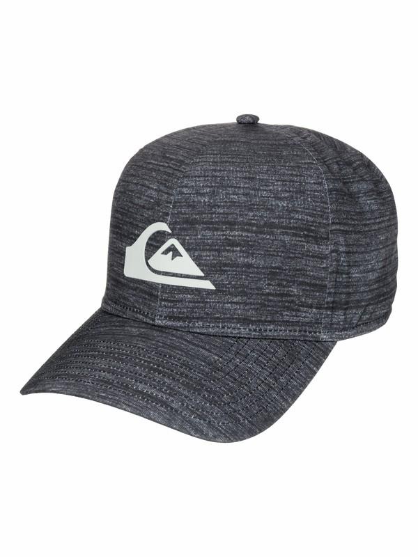 0 AG47 M & W Bonded Amphibian - Curved Brim Stretch-Fit Hat  AQYHA03290 Quiksilver