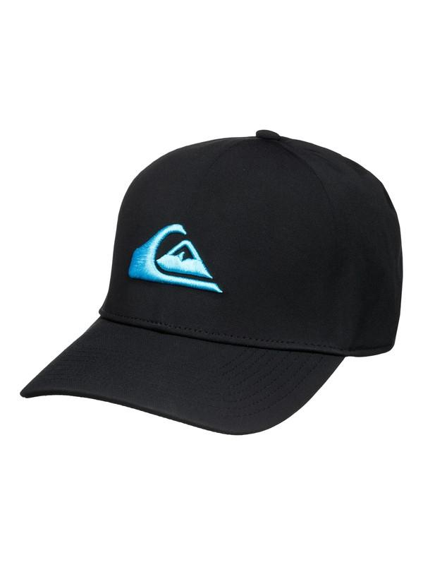 0 Mountain & Wave Black New Era Hat  AQYHA03315 Quiksilver
