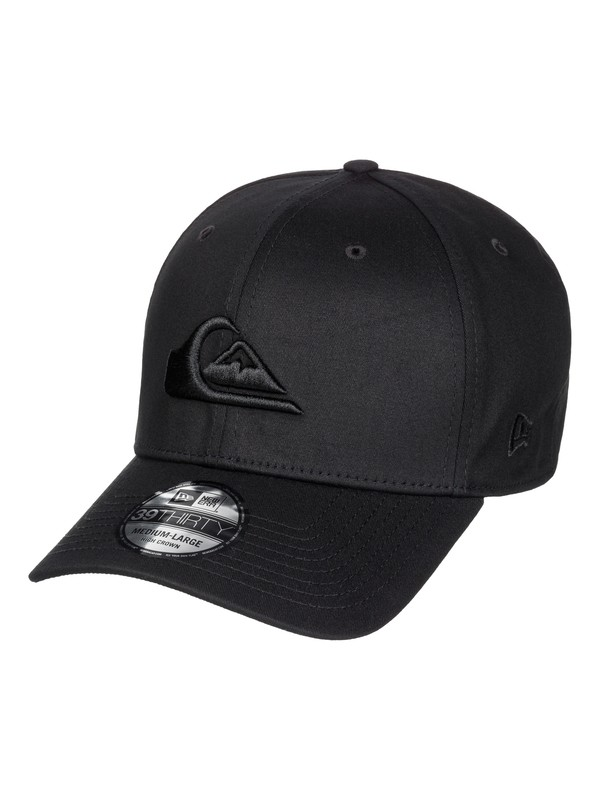 0 Mountain & Wave Black Stretch Fit Hat  AQYHA03379 Quiksilver
