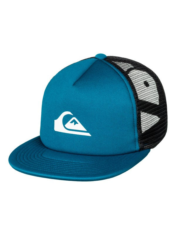 0 Snap Addict - Trucker Cap Blue AQYHA03528 Quiksilver