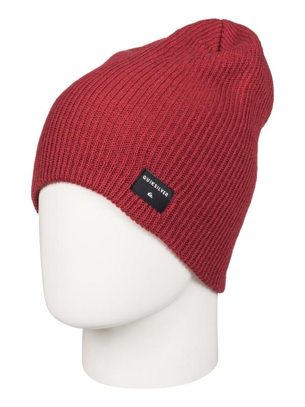 0 Cushy Slouch - Bonnet long Rouge AQYHA03561 Quiksilver