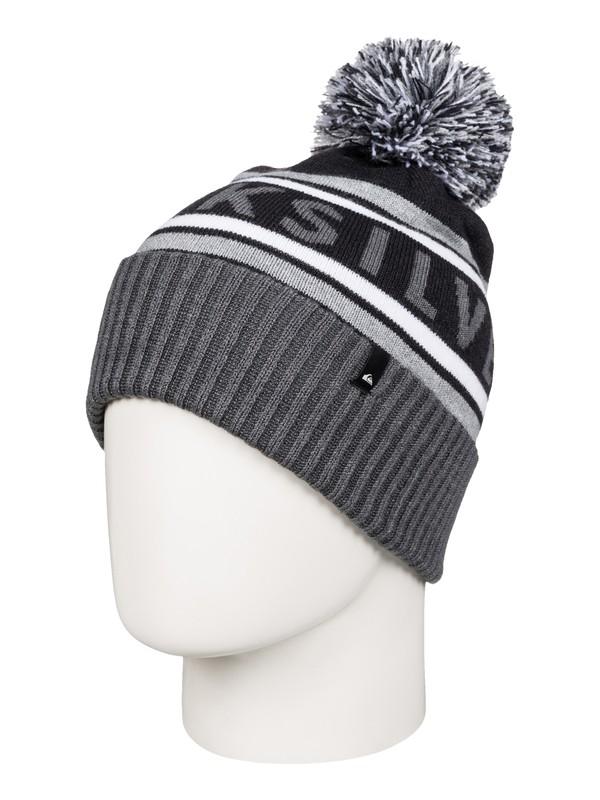 0 Spillage - Bonnet à pompon Noir AQYHA03562 Quiksilver
