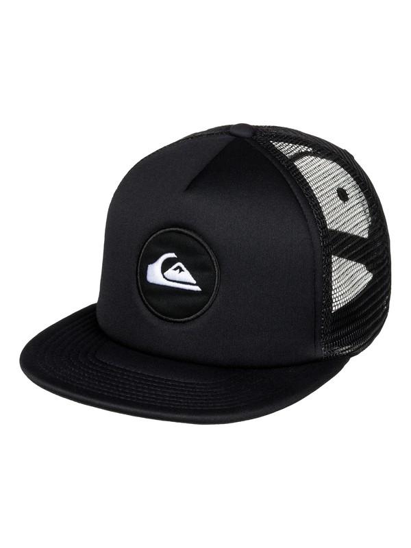 0 Snapstearn Trucker Hat Black AQYHA03623 Quiksilver