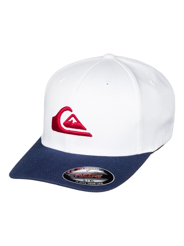 0 Mountain And Wave - Casquette flexfit Blanc AQYHA03630 Quiksilver