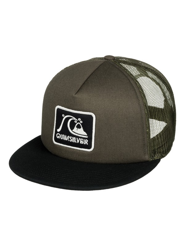0 Graffed Trucker Hat Brown AQYHA03726 Quiksilver