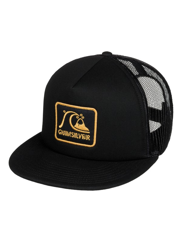 0 Graffed Trucker Hat Black AQYHA03726 Quiksilver