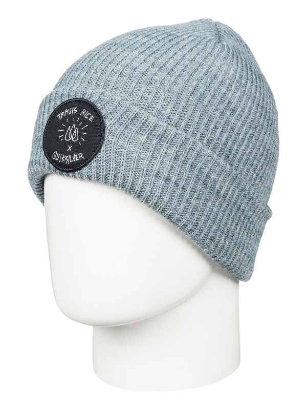 0 Travis Rice Beanie Grey AQYHA03739 Quiksilver