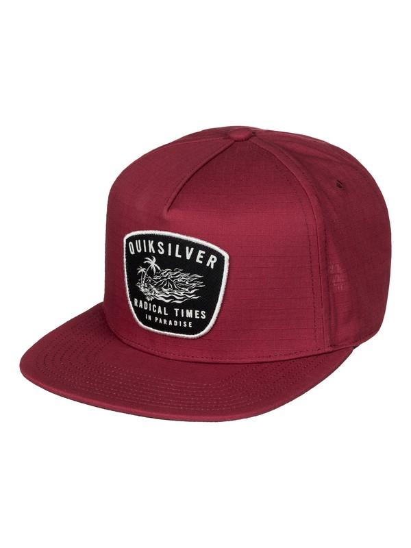 0 Racked Snapback Hat Red AQYHA03766 Quiksilver