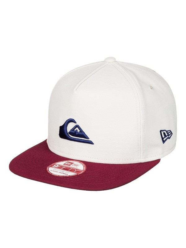 0 Stuckles Snapback Hat White AQYHA03767 Quiksilver