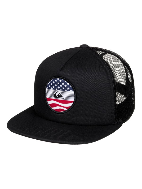0 Stateside Trucker Hat Black AQYHA03812 Quiksilver
