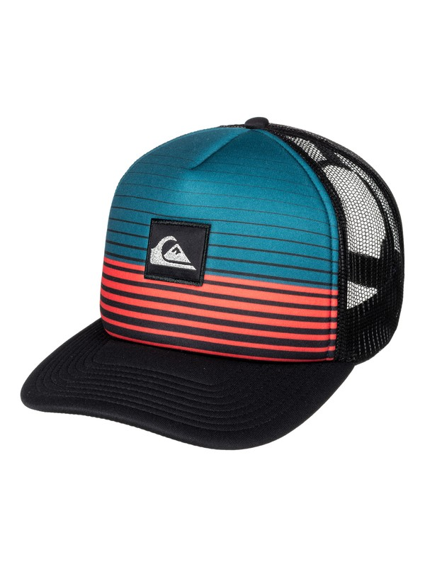 0 Stripe Block Trucker Hat Blue AQYHA03851 Quiksilver