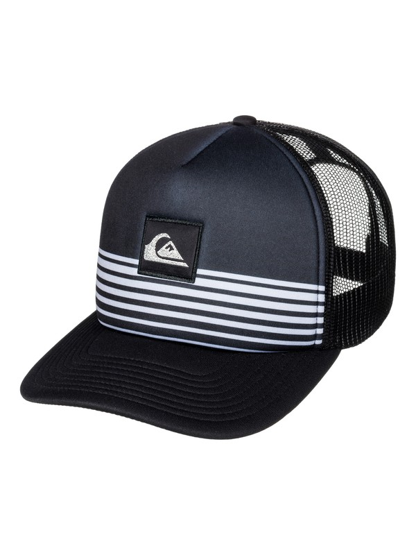 0 Stripe Block Trucker Hat Black AQYHA03851 Quiksilver