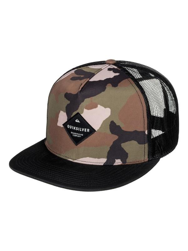 0 Brillings Trucker Hat Green AQYHA03852 Quiksilver