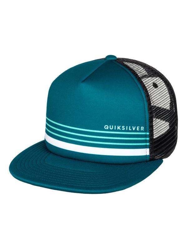 0 Straightness Trucker Hat Blue AQYHA03854 Quiksilver