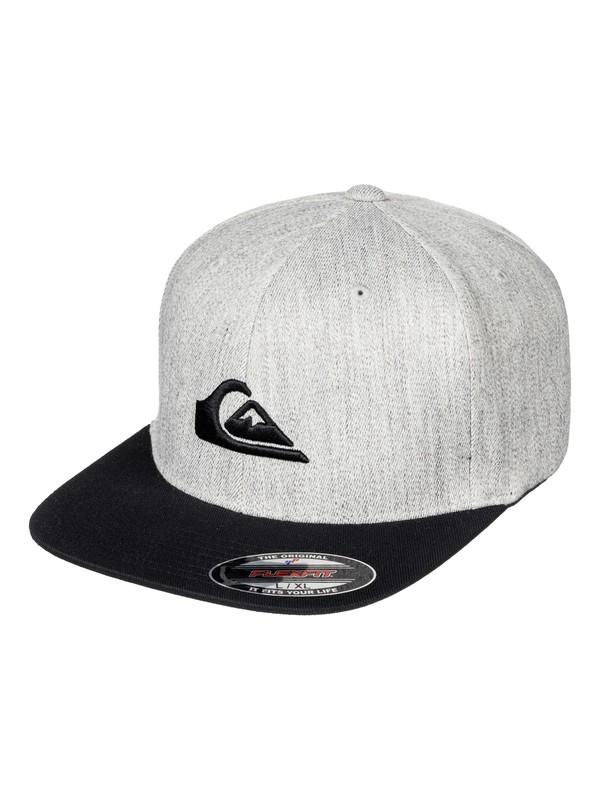 0 Stuckles Flexfit Hat Grey AQYHA03862 Quiksilver