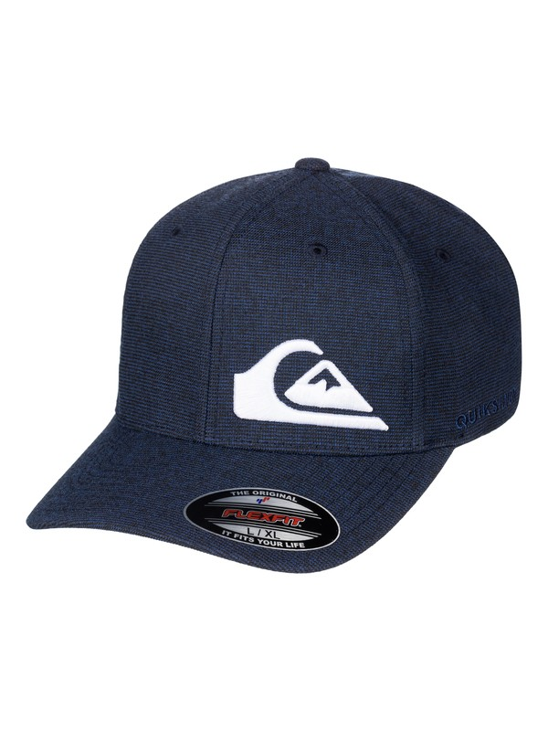 0 Men's Final Flexfit Hat Blue AQYHA03924 Quiksilver