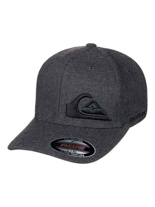 0 Men's Final Flexfit Hat Black AQYHA03924 Quiksilver
