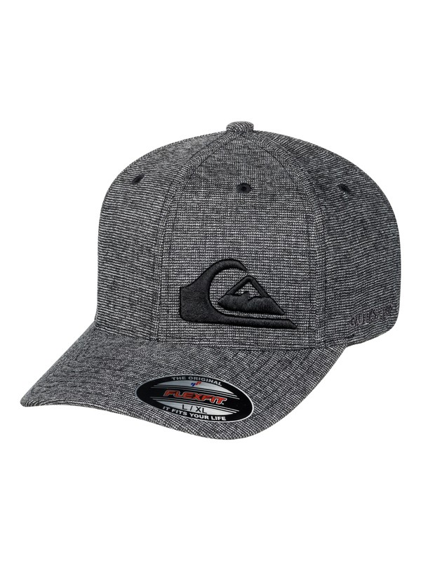 0 Men's Final Flexfit Hat Grey AQYHA03924 Quiksilver