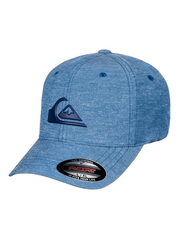 0 Men's Transit Stretch Flexfit Hat Blue AQYHA03925 Quiksilver