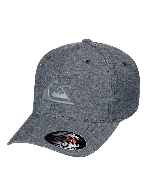 0 Men's Transit Stretch Flexfit Hat Black AQYHA03925 Quiksilver