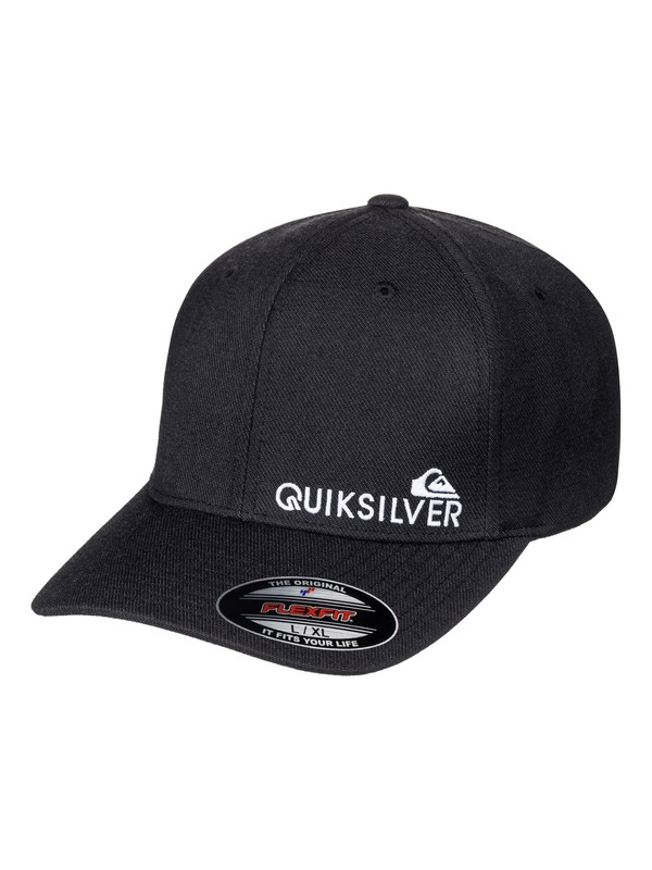 0 Men's Sidestay Flexfit Hat Black AQYHA03927 Quiksilver