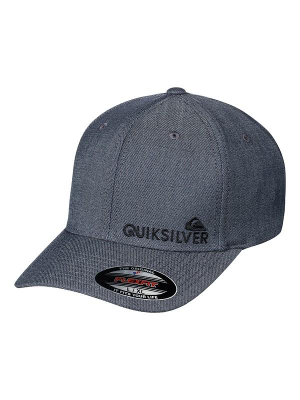 0 Men's Sidestay Flexfit Hat Grey AQYHA03927 Quiksilver