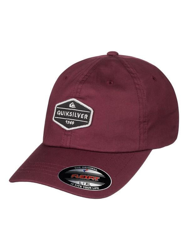 0 Men's El Stretch Flexfit Hat Red AQYHA03928 Quiksilver