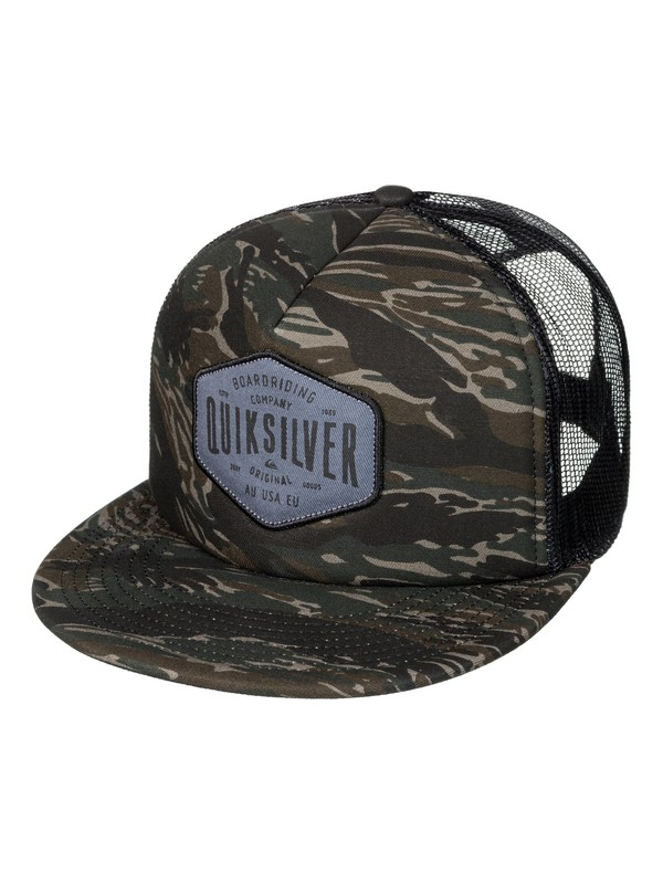 0 Men's Brain Gainer Trucker Hat Green AQYHA03930 Quiksilver