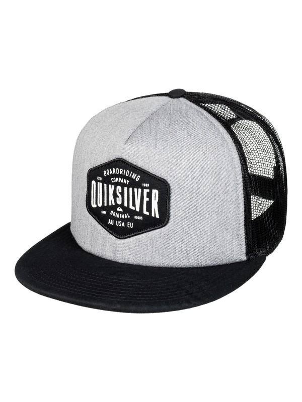 0 Men's Brain Gainer Trucker Hat Black AQYHA03930 Quiksilver