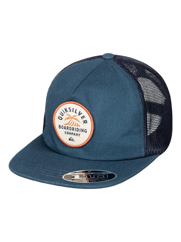 0 Men's Brazen Trucker Hat Blue AQYHA03931 Quiksilver