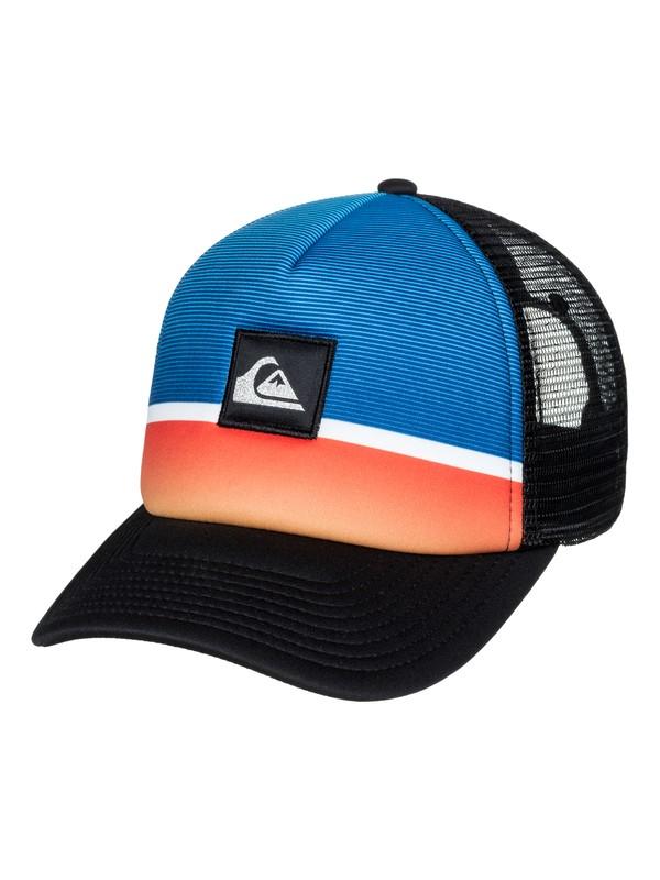 0 Men's Stripe Downer Trucker Hat Orange AQYHA03932 Quiksilver