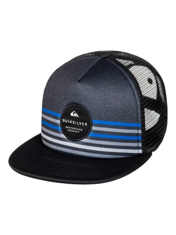 0 Men's Popline Trucker Hat Black AQYHA03934 Quiksilver