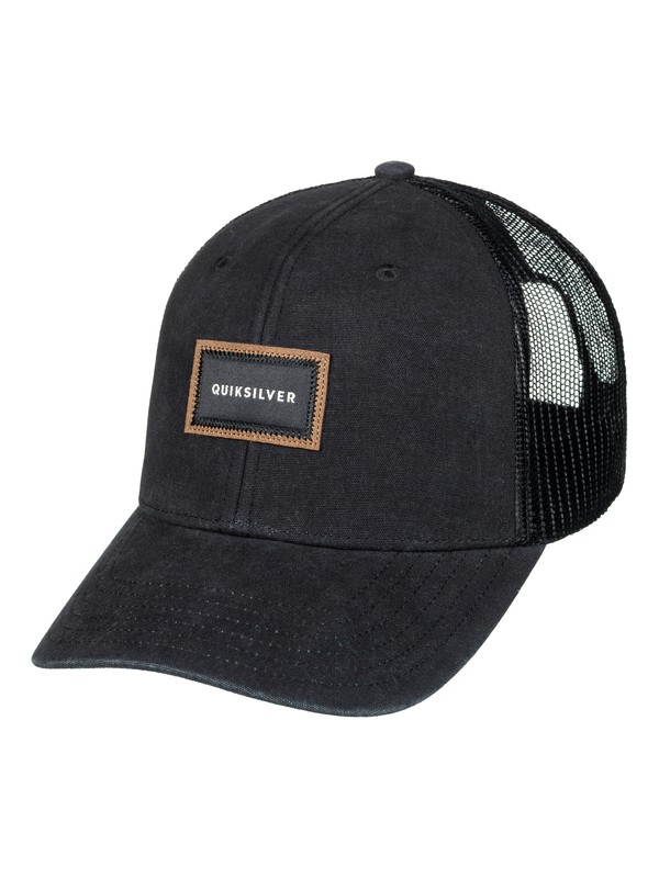 0 Men's Barnburner Trucker Hat Black AQYHA03935 Quiksilver
