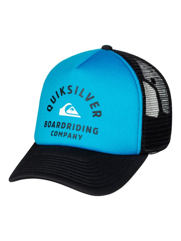 0 Men's Breath Taker Trucker Hat Blue AQYHA03936 Quiksilver