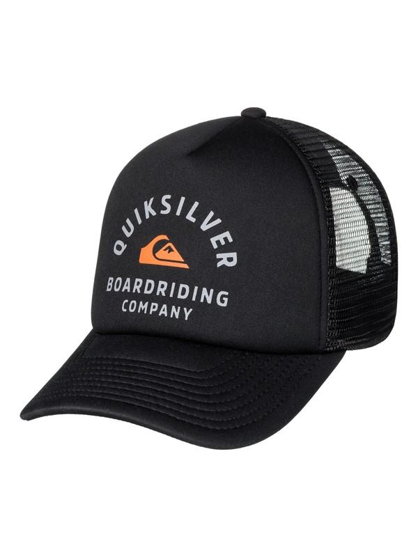 0 Men's Breath Taker Trucker Hat Black AQYHA03936 Quiksilver