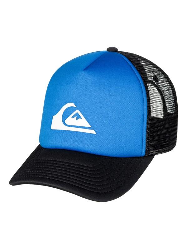 0 Men's Snaption Trucker Hat Blue AQYHA03937 Quiksilver