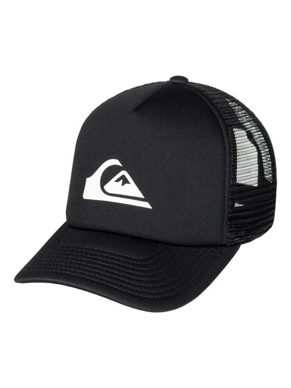 0 Men's Snaption Trucker Hat Black AQYHA03937 Quiksilver