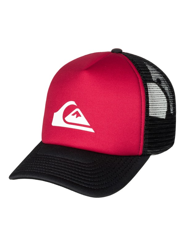 0 Men's Snaption Trucker Hat Red AQYHA03937 Quiksilver