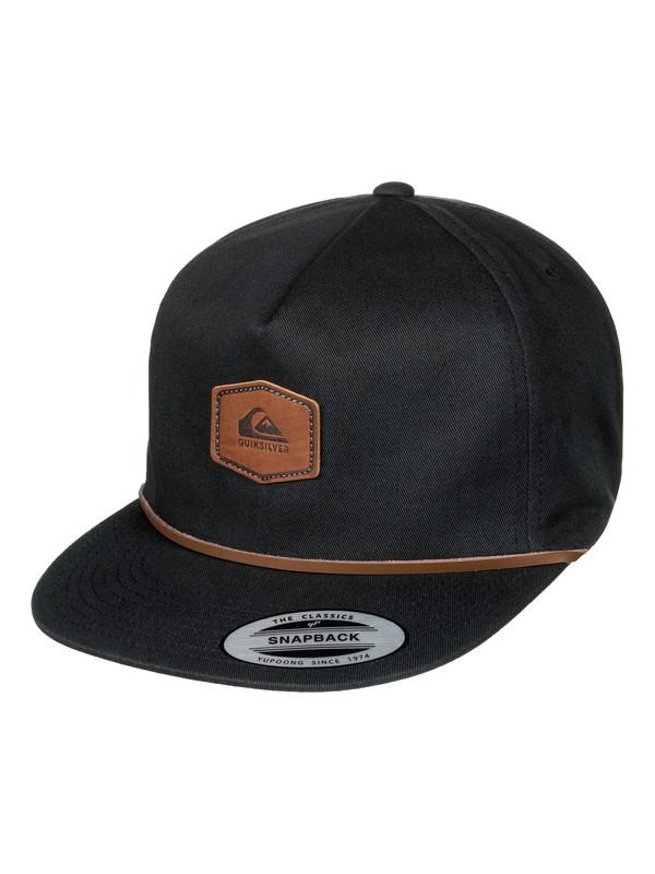 0 Men's First Mate Snapback Hat Black AQYHA03944 Quiksilver