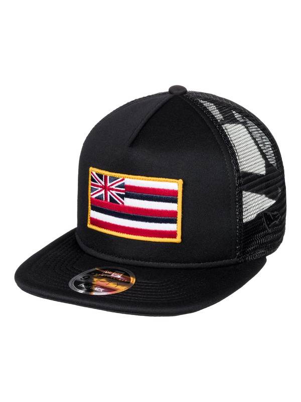 0 Men's Flagsteed Trucker Hat Black AQYHA03970 Quiksilver