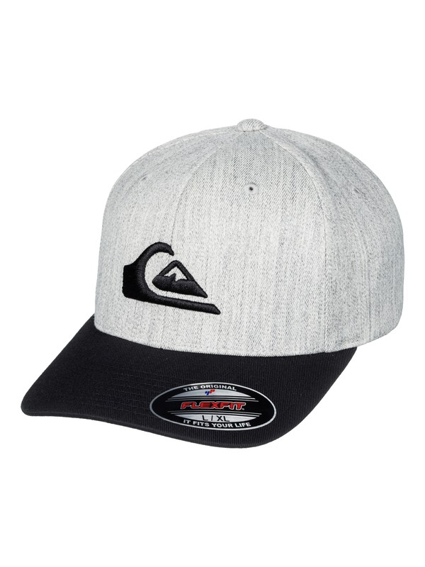 0 Men's Mountain And Wave Flexfit Hat Black AQYHA03978 Quiksilver